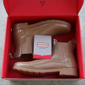 Chelsea Tan Hunter Rain Boots